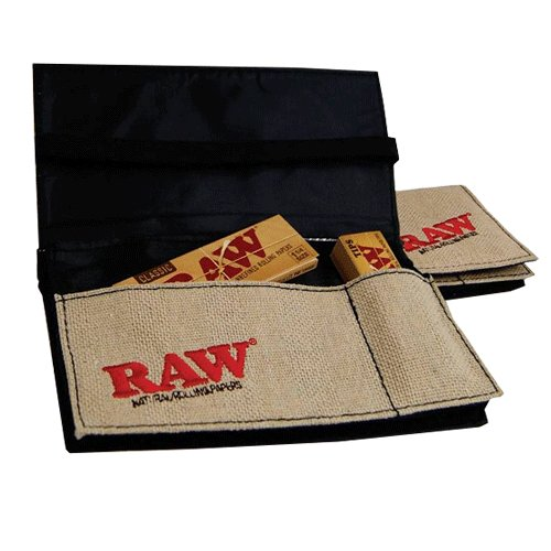 cartera raw , papel fumar raw